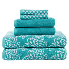 Concierge Collection 6-piece 100% Turkish Cotton Jacquard Towel Set