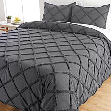 Concierge Collection Chenille Lattice 3-piece Comforter Set