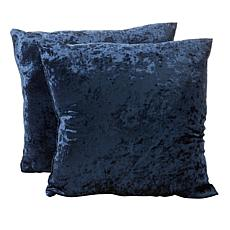 Concierge Collection Elements Crushed Velvet Set of 2 Pillows