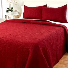 Concierge Collection Medallion Cotton Quilt Set