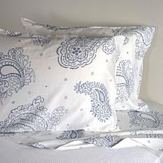 Concierge Collection Paisley 300TC 100% Cotton 4pc Sheet Set - Queen