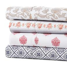 Concierge Collection Printed 4-piece Microfiber Sheet Set