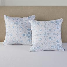 Concierge Collection Set of 2 Cotton Decorative Pillows