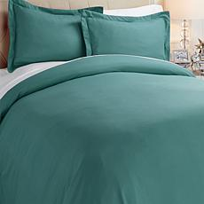 Concierge Collection Solid Woven Duvet Set