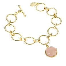 Connie Craig Carroll Jewelry AnnaBelle Rose Quartz Toggle Bracelet