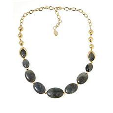 "Connie Craig Carroll Jewelry Eva 20"" Labradorite Necklace"