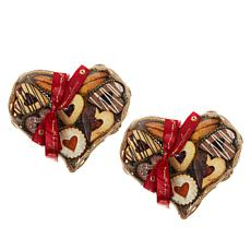 Cookies Con Amore (2) 1 lb. Heart Gift Baskets