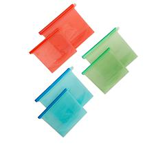 Cook's Secret Set of 6 Reusable Food Storage Bags