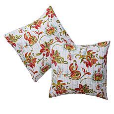 Cottage Collection 100% Cotton Stitched Euro Sham 2-pk - Jacobean