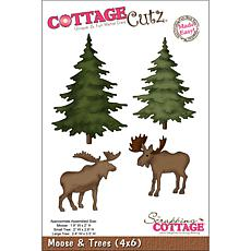"CottageCutz ""Moose and Trees Made Easy"" Die"