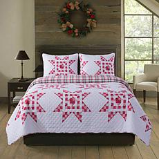 Country Living 2-piece Holiday Twin Quilt Set - Angelina