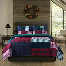 Country Living 2-piece Holiday Twin Quilt Set - Patchwork Plaid