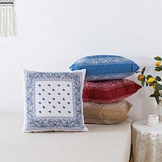 "Country Living Home Collection 18"" x 18"" Bandana Pillow"