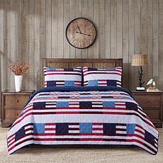 Country Living Home Collection Flag 3-piece Printed Quilt Set