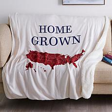 Country Living Home Collection Icon Plush Throw - Home Grown
