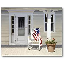 Courtside Market American Porch 24x36 Canvas Wall Art