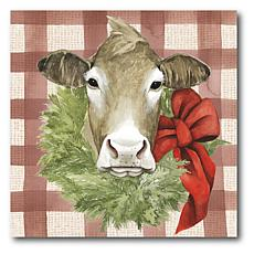 Courtside Market Christmas on the Farm III 24x24 Canvas Wall Art