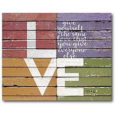 "Courtside Market LOVE Canvas Wall Art - 20"" x 24"""