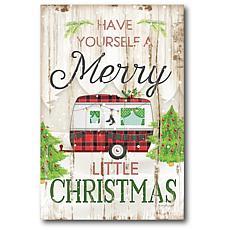 Courtside Market Merry Little Christmas Camper 18x26 Canvas Wall Art