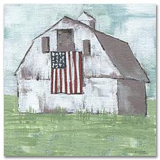 """Courtside Market Old Glory or The Barn Canvas Wall Art - 24"""" x 24"""""""