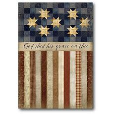 """Courtside Market Patriotic Quilted Canvas Wall Art - 16"""" x 20"""""""