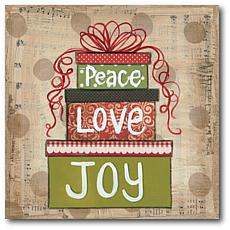 Courtside Market Peace Love & Joy 16x16 Canvas Wall Art