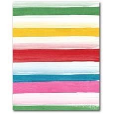 "Courtside Market Stripes II Canvas Wall Art - 20"" x 24"""