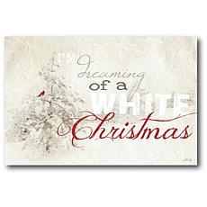 Courtside Market White Christmas 18x26 Canvas Wall Art