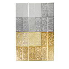 Craft Factory Creations 24 Sheets Gold, Silver & Glitter Stickers
