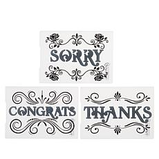 """Crafter's Companion 3-piece """"Classic"""" Cut and Emboss Folders - Set 2"""