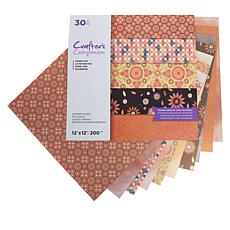 "Crafter's Companion 30-pack 2-Sided 12"" x 12"" Paper - Summer Sunset"