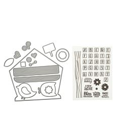 Crafter's Companion Bird House Card Base Dies and Stamps