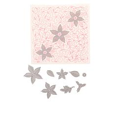 Crafter's Companion Chloe 9pc Pretty Poinsettia Cut & Emboss Folder