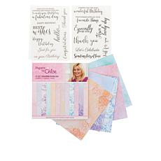 Crafter's Companion Chloe Sentiments Stamps and Paper