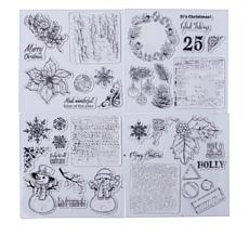 Crafter's Companion Christmas Foliage Mini Collage Stamps