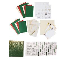 Crafter's Companion Christmas Verse Stamp and Card Bundle