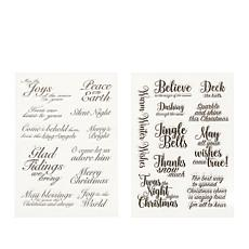 Crafter's Companion Clear Christmas Sentiment Stamps