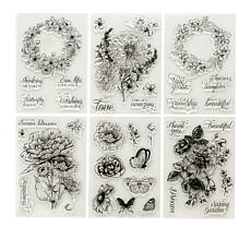 Crafter's Companion Clear Stamp Floral Set 6-pack