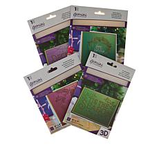 Crafter's Companion Deck the Halls  3D Embossing Folders
