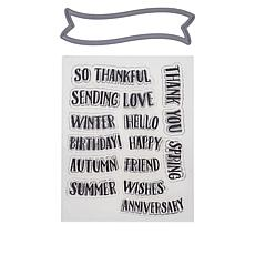 Crafter's Companion Every Day Banner Stamp & Die Sets