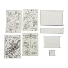 Crafter's Companion Floral Stamps and Rock-A-Blocks