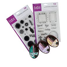 Crafter's Companion Flowers & Frames Stamps and Inks
