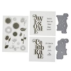 Crafter's Companion Gemini Celebrate Cascading Stamp and Die Set