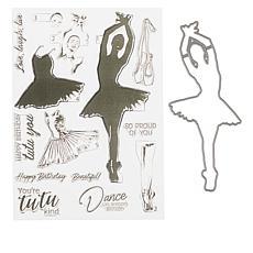 Crafter's Companion Gemini Elements Ballerina Layering Stamp & Die Set
