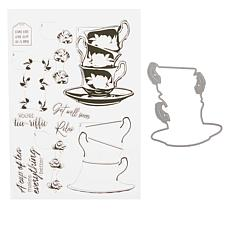 Crafter's Companion Gemini Elements Teacup Layering Stamp and Die Set