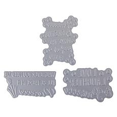 Crafter's Companion Gemini Prosecco Quirky Sentiments Foil Stamp Dies