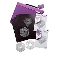 Crafter's Companion Hexagon and Heart Nesting Dies with Case
