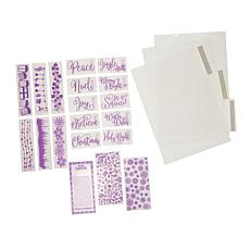 Crafter's Companion Holiday Sentiment Embossing Folder Set