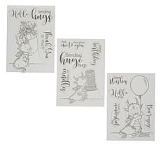 Crafter's Companion Lee Holland Dragon Birthday Stamp Set