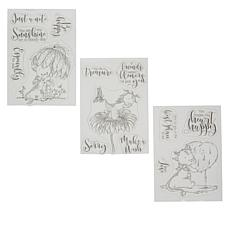 Crafter's Companion Lee Holland Dragon Garden Stamp Set